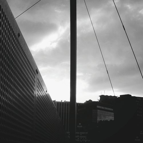 Architecture Cloud - Sky Built Structure Modern Sky City Low Angle View Building Exterior Outdoors No People Skyscraper Day Silhouette Wellingtonnz Newzealand Hogla Monochrome Blackandwhite