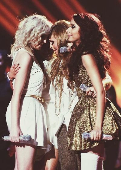 Little Mix  LITTLE MIX!! Cannonball Xfactor when they won. No leigh Anne.
