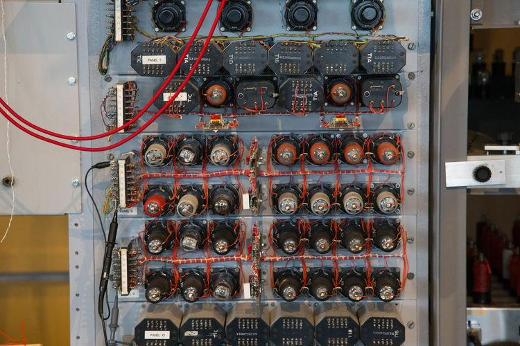 Close-up of control panel