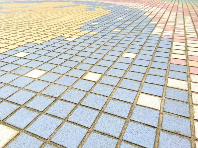 Pattern Day Outdoors Backgrounds Full Frame No People Architecture Tile Tiled Floor Tiles Textures Square Squares Array Of Colors Floor Colorful