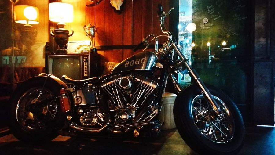"""""""the 'beast' of Hatyai"""" Indoors  Transportation No People Land Vehicle Built Structure Motorcycle Day Architecture Close-up Harley Davidson 8080cafe Bigbike EyeEm Selects Your Ticket To Europe"""