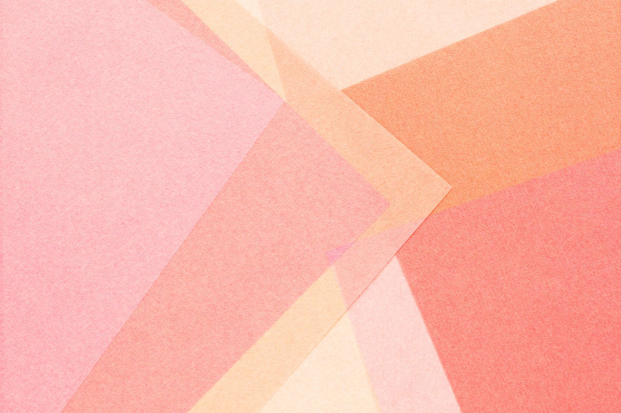 full frame, backgrounds, multi colored, pink color, no people, paper, pattern, close-up, indoors, art and craft, high angle view, creativity, copy space, orange color, abstract, textured, still life, design, shape, studio shot, ceiling