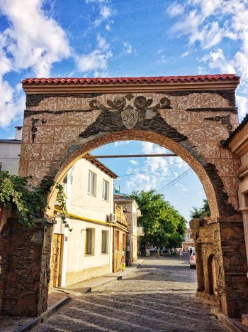 Arch Architecture Sky History Cloud - Sky Built Structure Outdoors Day No People Crimea Evpatoria Lost In The Landscape