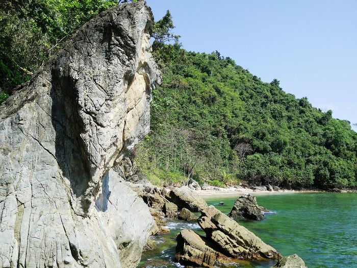 Travel Thailand Sea Beauty In Nature Scenics Water High Angle View Tree No People Wave Sunlight Nature Day Outdoors Sky Sea Beach travel Thailand sea landscape seascapes southern stone chumporn