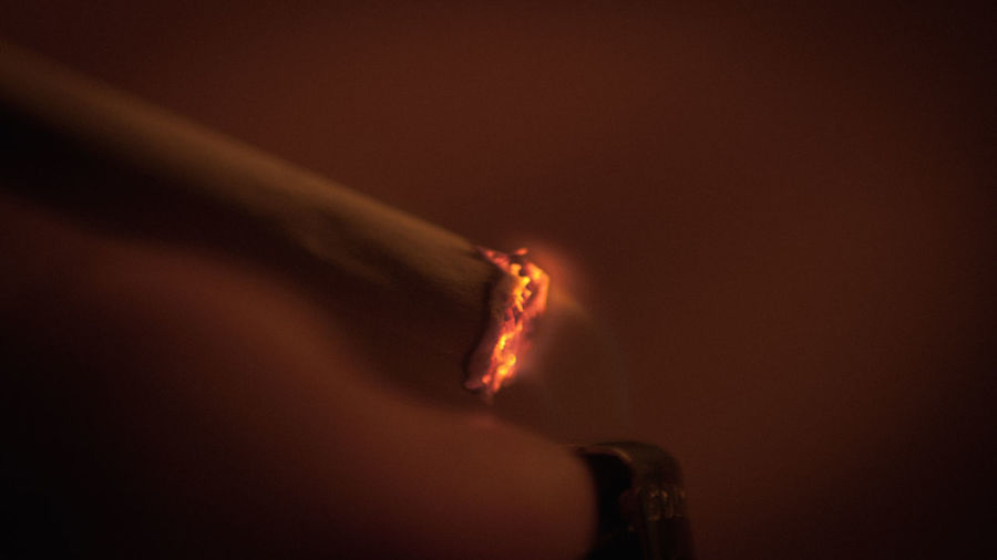 Burning Cigarette  Cinematic Close-up Fire Flame Health Smoking