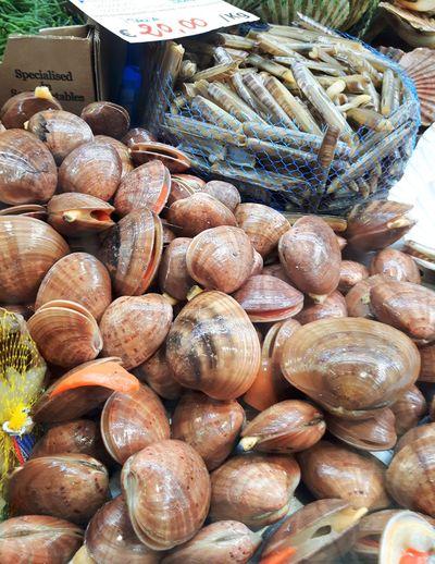 Muscheln und Meerestiere vom Fischmarkt in Rimini Food Freshness Close-up Outdoors Day Abundance Rimini2017 No People Fisch Fischmarkt Fische Eyem Gallery Italia Meer Rimini EyeEm Best Shots Beliebte Fotos Food And Drink Market Fish Market Seafood