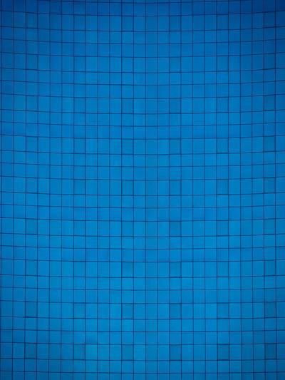Full frame shot of blue tiled floor