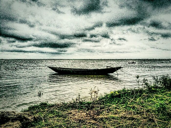A Dramatic View of River Padma in Monsoon : Near India - Bangladesh Border : Dramatic View Of River The Great Outdoors - 2015 EyeEm Awards Silhouette River Padma India - Bangladesh Beautyful Earth Open No Edit Check This Out Taking Photos