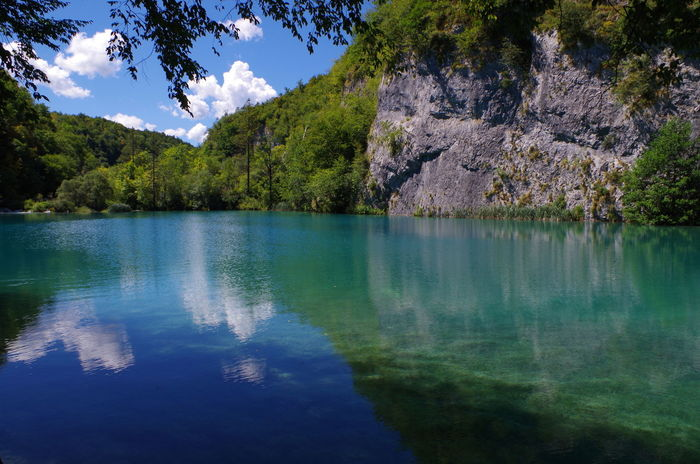 Lakes of Plitvice EyeEmNewHere Hiking Landscape Croatia Tree Lake Beauty In Nature Water Nature Reflection Forest Sky Blue Mountain No People Outdoors Green Color Summer Exploratorium