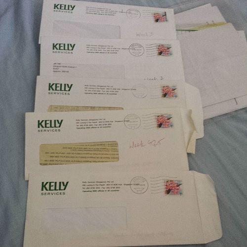 那些年,我在NTUC做工的时候。Look at how yellow these timesheets are lol. 2008 KellyServices Timesheets
