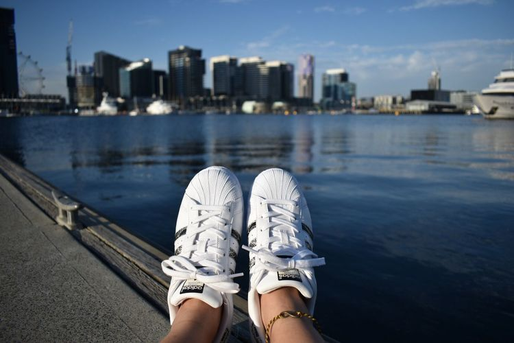 Lieblingsteil The right shoes never hurt your feets Shoes Adidassupertar Whiteshoes Sneakers Homemade Anklet
