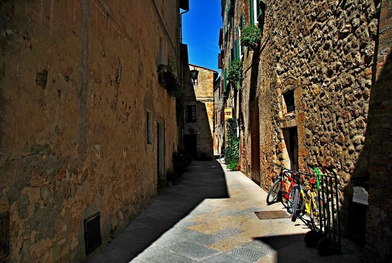 Pienza Italy Alley Architecture Building Exterior Built Structure City Day No People Outdoors Sky The Way Forward