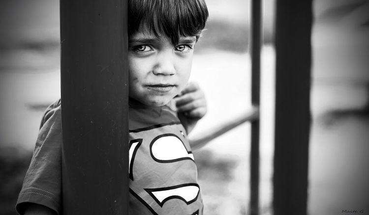 Superman Portrait Photography Kids Portaiture Desdelotrolado Superman Nikonphotography Black & White B&n SPAIN Light And Shadow The Portraitist - 2016 EyeEm Awards