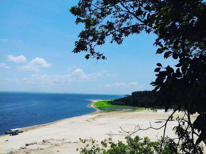 Beach No People Horizon Over Water Blue Sky First Eyeem Photo Nature Beauty In Nature Paricatuba Amazonas-Brasil