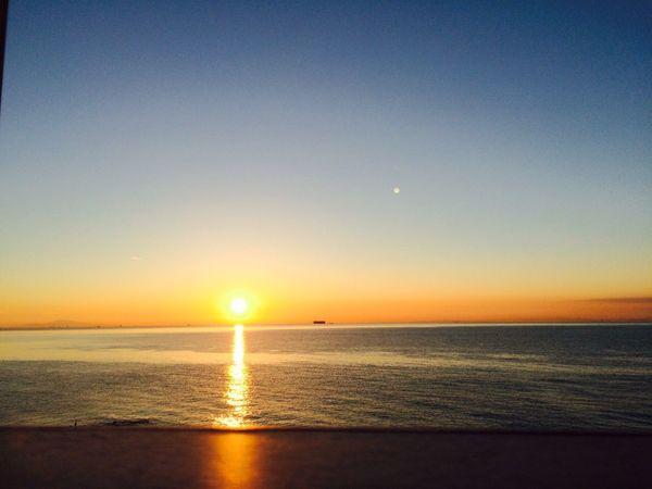 最後は綺麗な夕日を見て帰りました✨! すっごい充分した1日でした💓 Sunny Day Sunset Sea Beautiful Nature Favirite Photo Awajishima Awaji