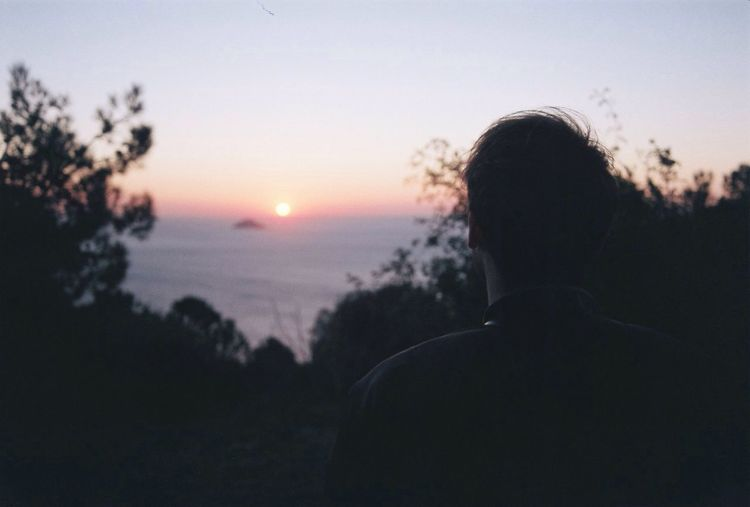 A day once dawned Analogue Photography 35mm Film People Sunset