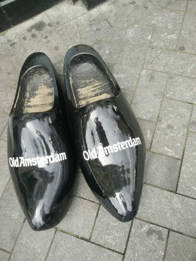 High Angle View Close-up No People Shiny Indoors  Day Shoes ♥ Wooden Shoes Giant Shoes Dutch Shoes