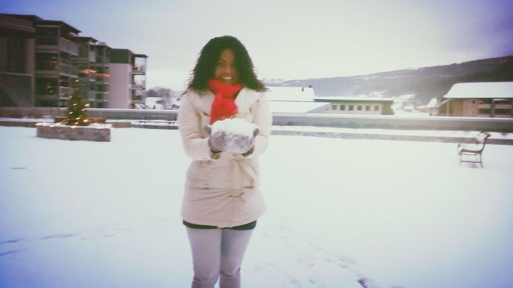 Brincando na neve!!❤⛄⛄ Holiday Relaxing