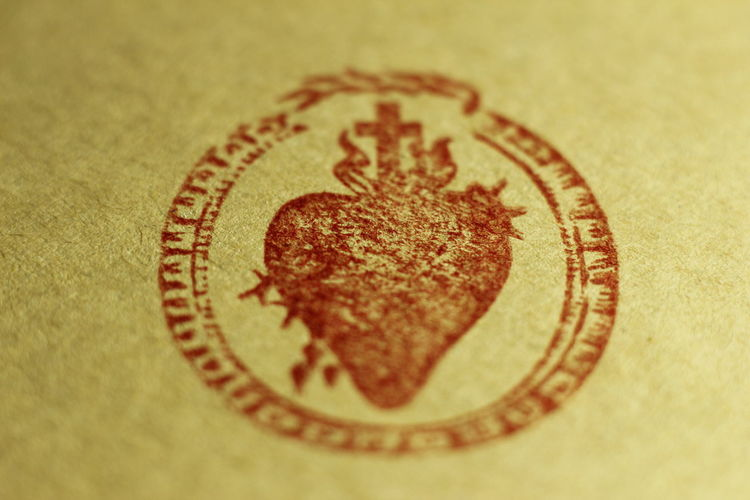 Blur Close-up Engraving Heart Macro Sacred Heart Seal Stamp