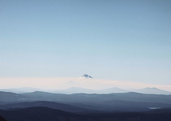 The mountains are calling but I'm already there. Mountain Sky Landscape Mountain Range Pacific Northwest  Mount Jefferson