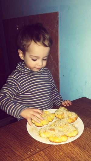 My Boy Eating Romanian Food Mucenici Cu Miere Si Nuca Made By Me Romanian Tradition Mucenici!!! Romanian Food Kisses ♥ Love To Take Photos ❤ My Boy ❤ Hey EyeEm  Kisses ♡