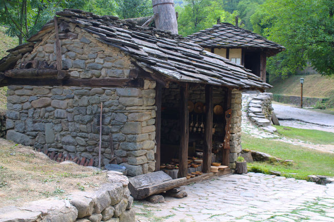 Ethnographic complex ETAR,Gabrovo Architecture Built Structure Bulgaria Day Footpath Home House No People Rural Scene Stone Stone Material Surface Level Tranquility Village Village Photography Wood - Material Wooden