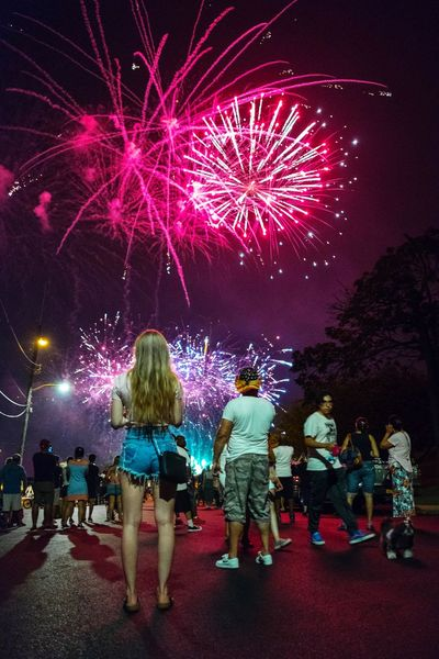 Baby, you're a firework... go on let your colors burst! Fireworks Crowd Audience Illuminated Men Multi Colored Arts Culture And Entertainment Excitement Women Firework Display Celebration Firework Sparks Exploding Live Event