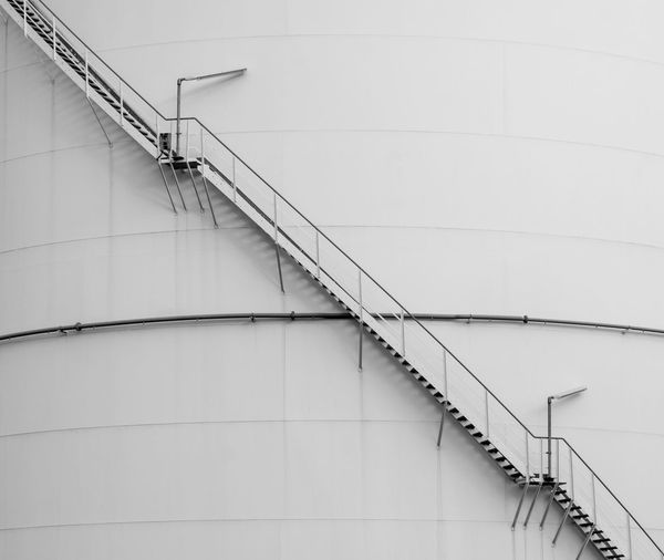 Architecture Black And White Stairs Industry Day Tank Minimalism Outdoors Staircase Industrial Steps Factory Railing Oil Minimalistic Gasoline Energy Gas Tank No People Oil Tank Low Angle View Best Of Stairways Steps And Staircases Built Structure Krull&Krull Images Fresh On Market 2018 Business Stories The Architect - 2018 EyeEm Awards Krull&Krull Black And White Hand Rail Krull&Krull Minimalistic
