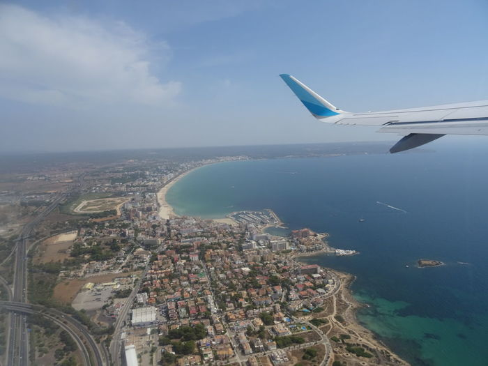 Airborne Aerial View Sea Airplane Flying Water Cloud - Sky Transportation Sky Travel Destinations Palma De Mallorca PMI Horizon Over Water Technology Eurowings Urlaub Hello World The Purist (no Edit, No Filter) Mallorca Holiday Vacations Beautiful Nature Landscape Beautiful Beauty In Nature