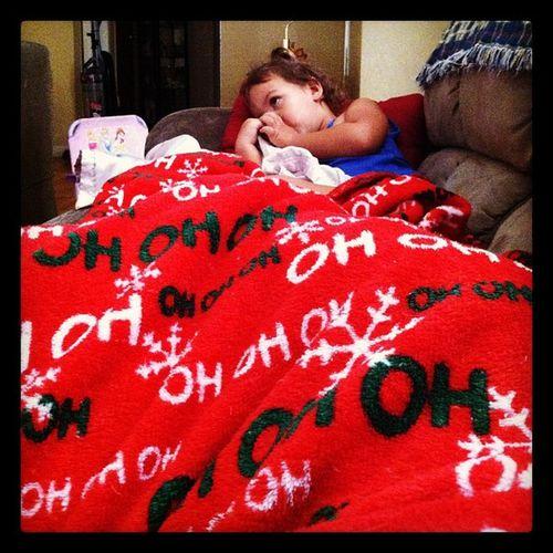 watching mcstuffins w/ this cutie <3 Jordynn Docmcstuffins Blanketsharing Loveher