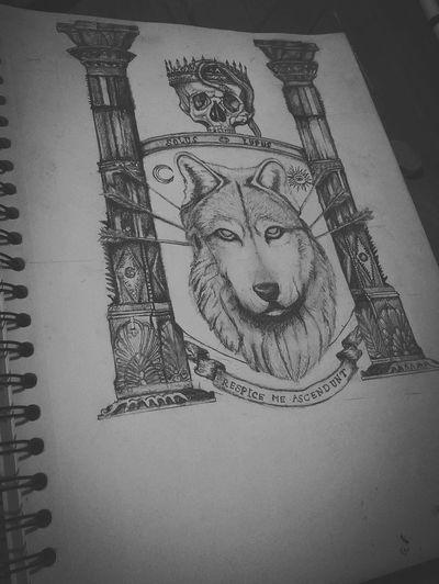 I'm back! Instagram:@filipcharly Drawing ✏ Art, Drawing, Creativity Tattoo Wolf Drawing Process Dibujo A Lapiz Mexico Tattooart Skulls Calaveras Creativity Drawing - Art Product Pencil DrawingArt And Craft New Project Craneos Escudodearmas Paper