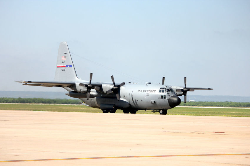 C-130 Air Vehicle Airplane Airport Runway Airshow C-130 Day Hercules Military Military Airplane No People Outdoors Prop Plane Propellers Texas