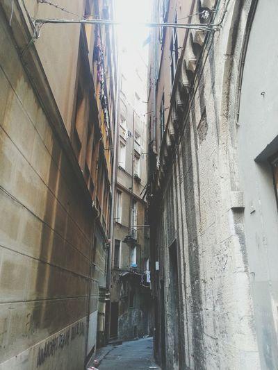 Built Structure The Way Forward Architecture Day No People Alley Vicolo Vicoli Di Genova Genoa Hystorical Centre Caroggi Outdoors