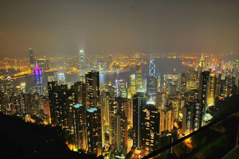 Peak Viktoria Victoria Peak Urban Landscape Night Photography Night Lights Street Photography Travel Hong Kong