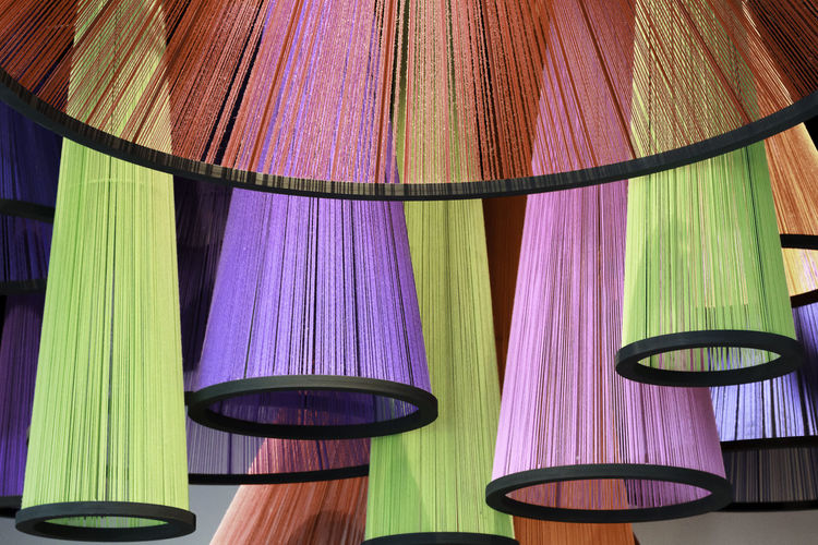 Close-up of multi colored curtain