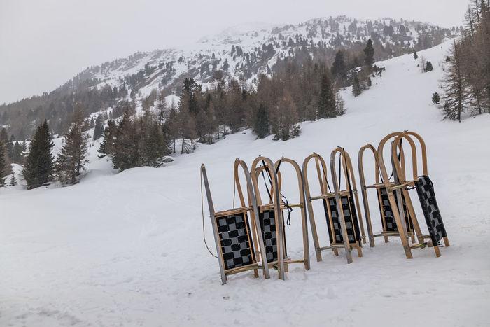 Winter in Soelden, Austria Holidays Skiing Sleigh Snowboarding Winter Winter Sport Cabin Chairlift Resort Ski Resort  Sleighride Snow Snowy Sport Vacation