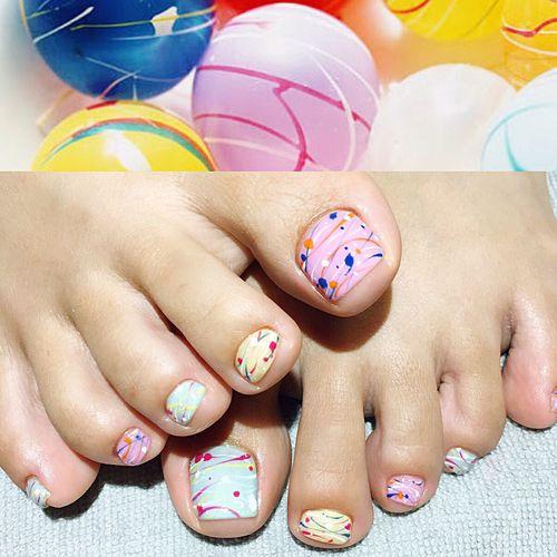 ヨーヨー お祭り Nail footnail