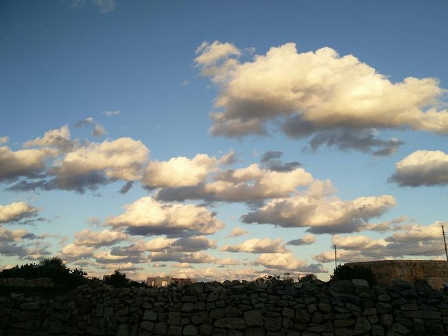 Rubble walls and cloudy skies Architecture Built Structure Cloud - Sky Sky No People Outdoors Day EyeEm From My Point Of View EyeEmNewHere Eyemphotography Rubble Wall Old Wall Maltaphotography Scenicphotography Scenic Clouds Cold Weather And Beautiful Skies