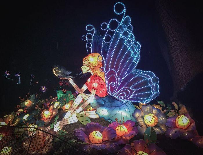 Fairy Tales Lights Light And Shadow Capture Tomorrow Representation Illuminated Celebration Night Art And Craft Human Representation Christmas No People Decoration Christmas Decoration Outdoors Sculpture Lighting Equipment Christmas Lights Creativity