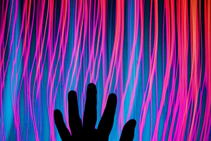 Digital Electronic Art Abstract Blue Close-up Human Hand Illuminated Night Palm Pattern Pink Color Silhouette Technology AI Now The Creative - 2018 EyeEm Awards