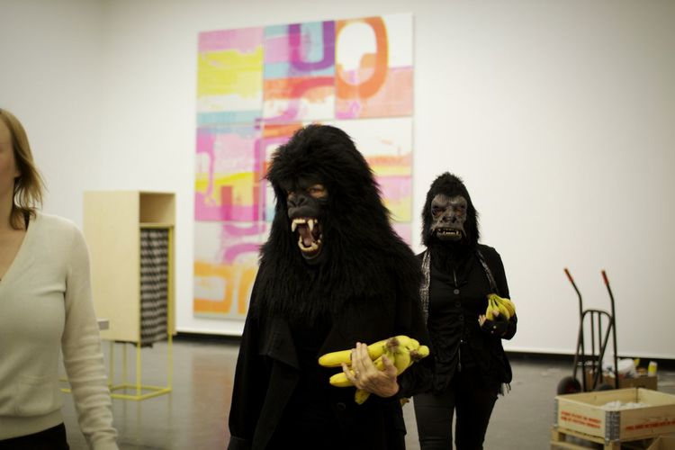 Guerrilla Girls Lecture In Human Behavior Lecture Arts Culture And Entertainment Real People Performance Indoors  People Feminism Adults Only Feminists This Week On Eyeem Feminist EyeEmNewHere Women Around The World Contemporary Art Art Gallery Artists