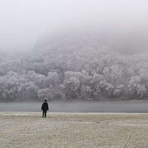 Outdoors Silhouette Nature One Person People Fog Beauty In Nature Winter Wintertime Freezingweather Freezing Cold Freezing ❄ Winter Trees Freezing Winter Wonderland Lieblingsteil Welcome To Black Long Goodbye The Secret Spaces Lost In The Landscape