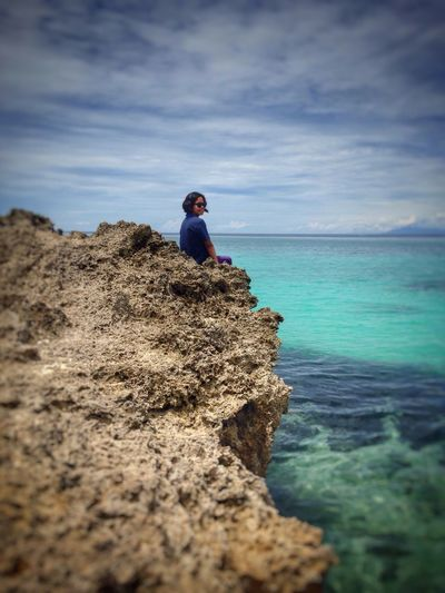 when in solitude😌 My Comfort Solitary Moments Enjoying The Sun Enjoying The View My Happiness Things I Like Nature Is Freedom Nature Is Life. Seascape ThatsMe Ilove Beach Nature And I Appreciating Nature EyeEm Nature Lover Eyeem Bohol Mobile Photography