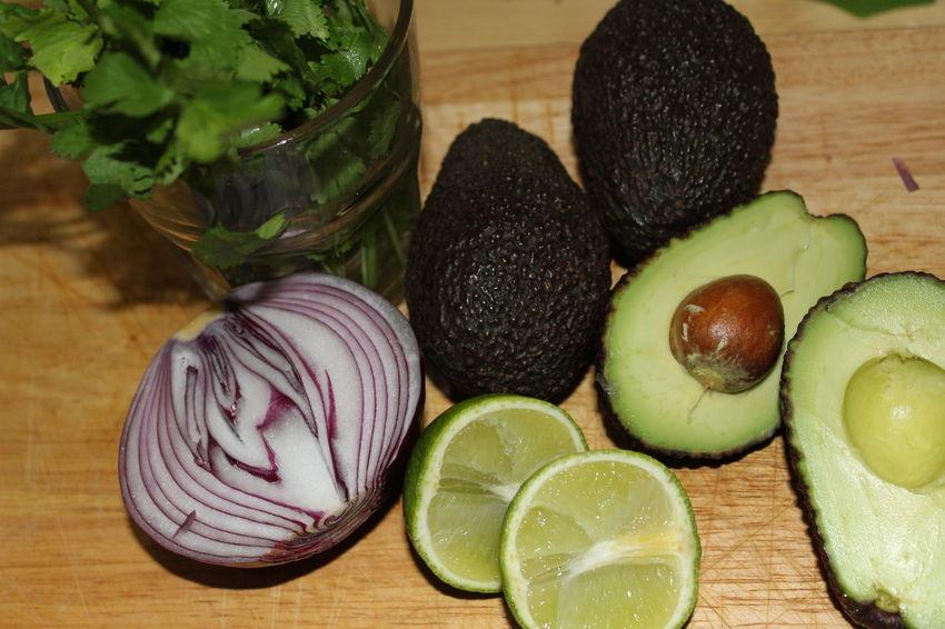 Guacamole ingredients Guacamole Avocado Mexican Ingredients Cooking Food Red Onion Coriander Healthy