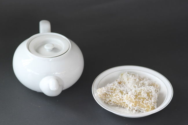 Lopis, indonesia food. Black Background Bowl Close-up Food Food And Drink Freshness Healthy Eating Indoors  Lopis Lupis Malay Food Milk No People Ready-to-eat Rice - Food Staple Studio Shot Table White Color