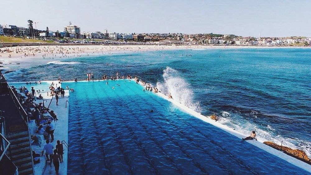 The Essence Of Summer Australia Sydney Bondi Beach Bondi Iceberg Water Sea Salt Water Ocean Splash Travelling Travel