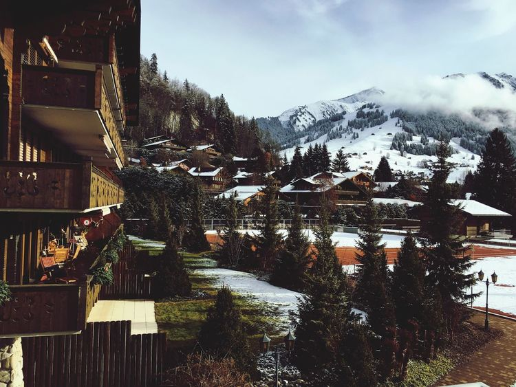 Winter Landscape Switzerland Gstaad Skiing Wealth