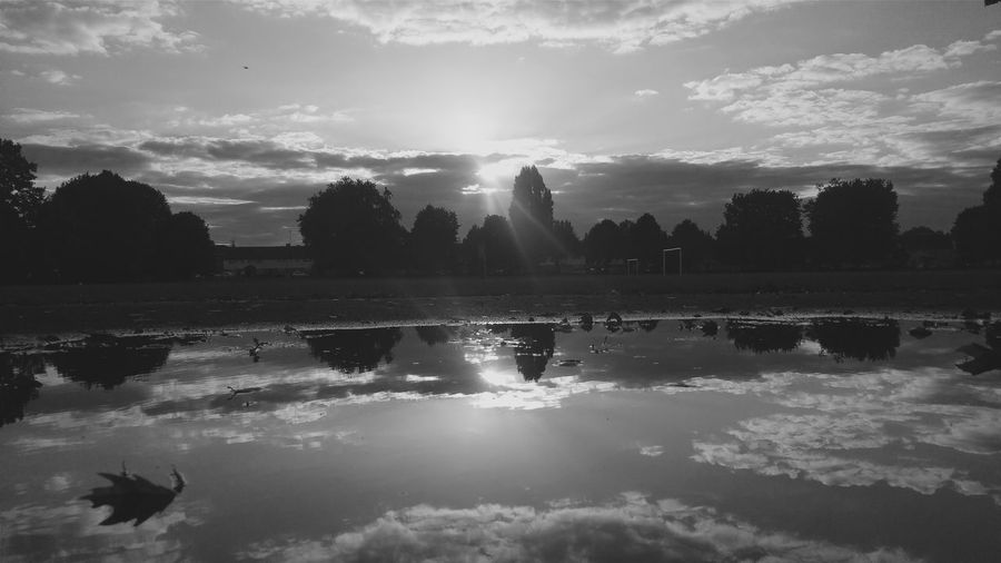 light and reflection Light And Shadow Monochrome Photography Park Bnw Park Reflection Perfection  Black And White Photography Reflections In The Water Reflected Glory Reflections And Shadows Chance Encounters