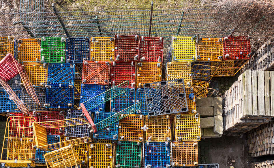 Architecture Boxing Building Exterior Built Structure City Day Industrial Industry Multi Colored No People Outdoors Packaging Palette Palettes Wrapping ındustry