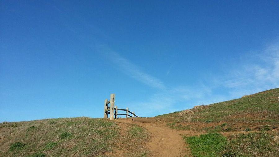 Wooden Fence on Kite Hill San Francisco